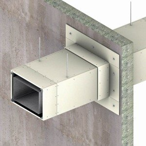 Пример огнезащиты воздуховода